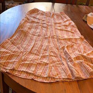 Flax stripe skirt